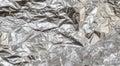 Crumpled aluminum foil texture Royalty Free Stock Photo