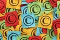 Crumpled copyright symbols concept Stock Image