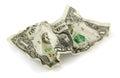 Crumpled dollar Royalty Free Stock Photo