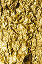Crumpled Gold Foil