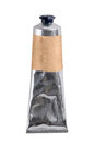 Crumpled metal tube with clipping path Royalty Free Stock Photo