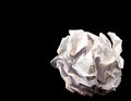 Crumpled paper ball close up of on black background Royalty Free Stock Photo