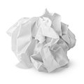 Crumpled paper ball isolated on white with clipping path Stock Images