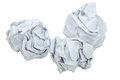 Crumpled Paper Balls Stock Images
