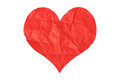 Crumpled paper heart Royalty Free Stock Photo