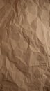 Crumpled paper texture beige background Royalty Free Stock Photo