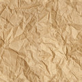 Crumpled paper wallpaper repeating brown parcel packing background texture tileable repeats left right up and down Stock Photos