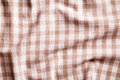 Crumpled tablecloth texture of checkered Royalty Free Stock Photos