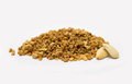 Crunchy almond with white background Royalty Free Stock Photo