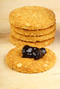 Crunchy cookies and jam Stock Images