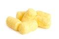 Crunchy corn snacks on white background Stock Image