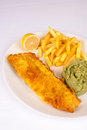 Crunchy fish and chips Royalty Free Stock Image