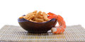 Crunchy prawn crackers Royalty Free Stock Photo