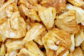 Crunchy Processed Pineapple Chips Close View Royalty Free Stock Images