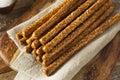 Crunchy Salty Pretzel Rods Royalty Free Stock Photo