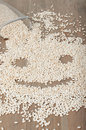 Crunchy in a shape of smily face Royalty Free Stock Images