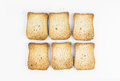 Crunchy Toasted Sliced Bread Royalty Free Stock Photo