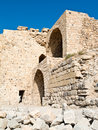 Crusader castle Al - Kerak, Jordan Royalty Free Stock Photos