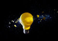 Crush bulb destroy electric high speed photo Royalty Free Stock Image