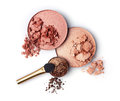 Crushed blush and eyeshadow Royalty Free Stock Photo