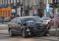 Crushed car Royalty Free Stock Photo