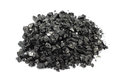 Crushed coal finely on a white background Royalty Free Stock Photography