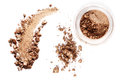 Crushed eyeshadow isolated on white background Royalty Free Stock Photo