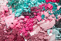 Crushed eyeshadows Royalty Free Stock Photography