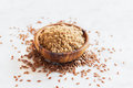 Crushed flax seeds Royalty Free Stock Photo