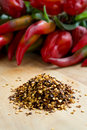 Crushed pepper red for cooking Stock Images
