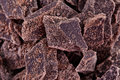 Crushed pieces of dark chocolate Royalty Free Stock Photo