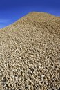 Crushed pound stone mound quarry Royalty Free Stock Photography