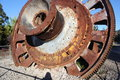 Crusher wheel from cement quarry the at seventeen mile rocks brisbane australia Royalty Free Stock Photos