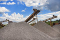 Crushing and screening plant gravel Stock Images