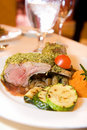 Crusted Rack of Lamb at Banquet Royalty Free Stock Photos