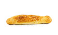 Crusty baguette isolated on white Royalty Free Stock Images