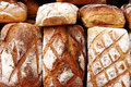 Crusty bread loafs traditional of closeup Royalty Free Stock Photos