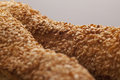 Crusty bread with sesame seeds Royalty Free Stock Image