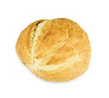 Crusty loaf isolated on white background Stock Photos