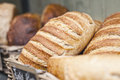 Crusty vienna bread in a bakery Royalty Free Stock Images