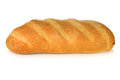 Crusty white bloomer bread isolated on background Royalty Free Stock Photo