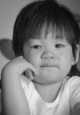Crying baby little asian is Royalty Free Stock Images