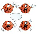 Crying basketball set Stock Photo