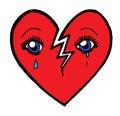 Crying Broken Heart Royalty Free Stock Photo