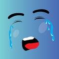 Crying cartoon face