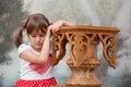Crying child portrait of sad little girl Royalty Free Stock Photos