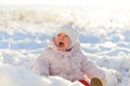 Crying Girl in Winter Royalty Free Stock Photos