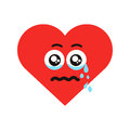 Crying heart vector illustration Royalty Free Stock Photo