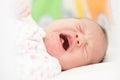Crying newborn baby girl Royalty Free Stock Photo