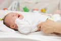 Crying newborn baby Royalty Free Stock Photo